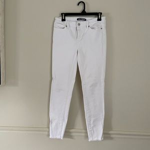 White Joe Fresh Raw Hem Skinny Jeans